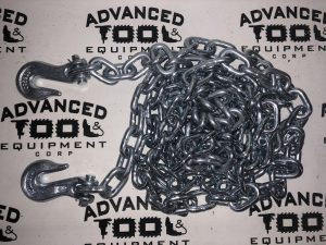 (1) New 14? GRADE 43 5400 LB DOT Towing Tow Chains w 2 Clevis Grab Hooks & Pouch