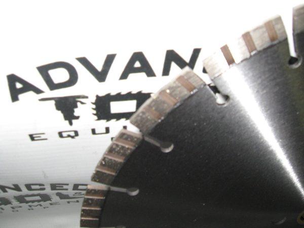 """14"""" AT&E Laser Welded Premium Turbo 15mm Seg Diamond Blade .125"""" 1""""-mm"""