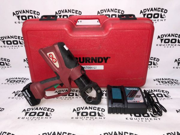 Burndy PAT644-L1 Hydraulic Self Contained Battery Actuated Crimping Tool 11 Ton