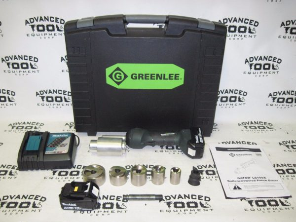 Greenlee LS100X Stainless Steel Punch Set Knockout Kit w/ Charger, Dyes, Case