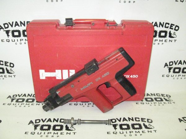 Hilti DX450 Powder Actuated Fastener Nailer Tool with Carrying Case