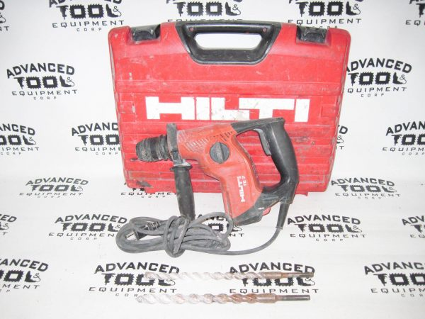 Hilti TE 7 Rotary Hammer Concrete Masonary Stone Drill with 2x Drill Bits & Case