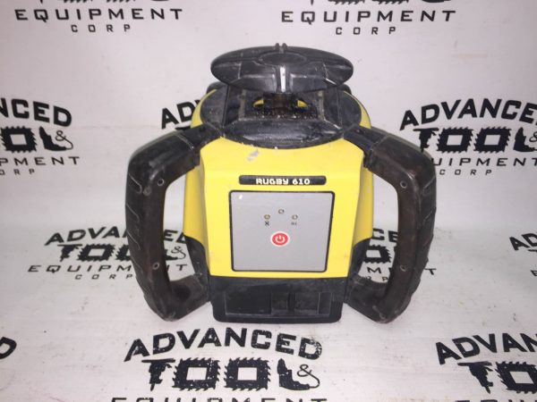 Leica Rugby 610 Rotary Self Leveling Rotating Laser w/ Remote & Carrying Case