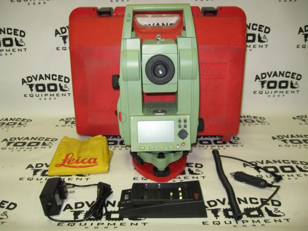 LEICA TCR407 Reflectorless Total Station Transit Level w/ Battery & New Charger