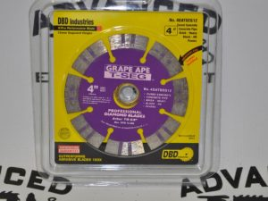 "New 4"" Grape Ape T-SEG Cured Concrete Diamond Blade"