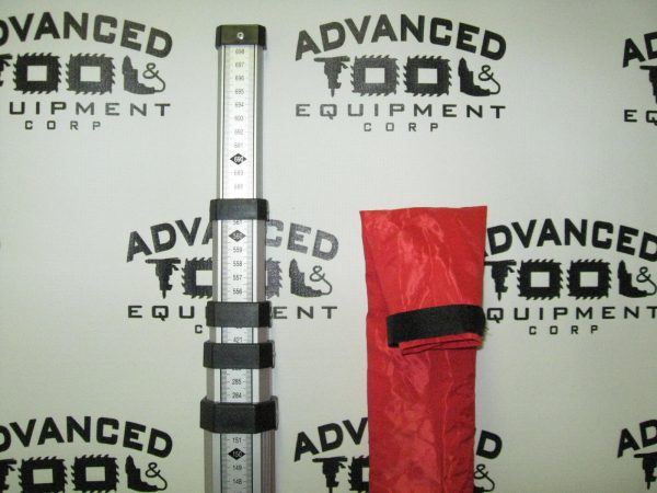 New! 5-Section 7 Meter Metric Aluminum Universal Grade Rod with Case E Scale