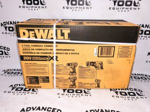 NEW Dewalt DCK484D2 V  XR? 4-Tool Compact Cordless Brushless Combo Kit