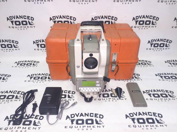 """Nikon DTM-4 30x 4"""" Total Station 90 Feet w/ 2x Battery, Plumb Bob & Case"""