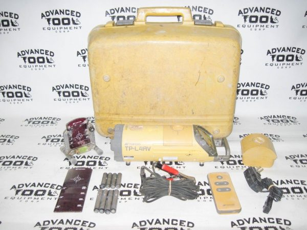 Topcon TP-L4AV Red Beam Sewer Pipe Laser Case Target Footbase w/ Remote Control