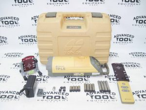 Topcon TP-L5 Red Beam Sewer Pipe Laser Case Target Footbase w/ Remote Control